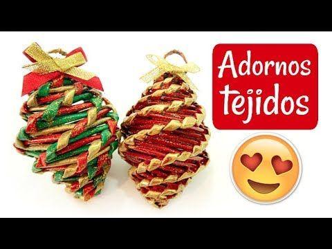 Cómo hacer y pintar los palitos: https://youtu.be/v1aCN_lapjM Hoy traigo un video que te va a encantar, te muestro cómo hacer adornos de Navidad tejidos hech...