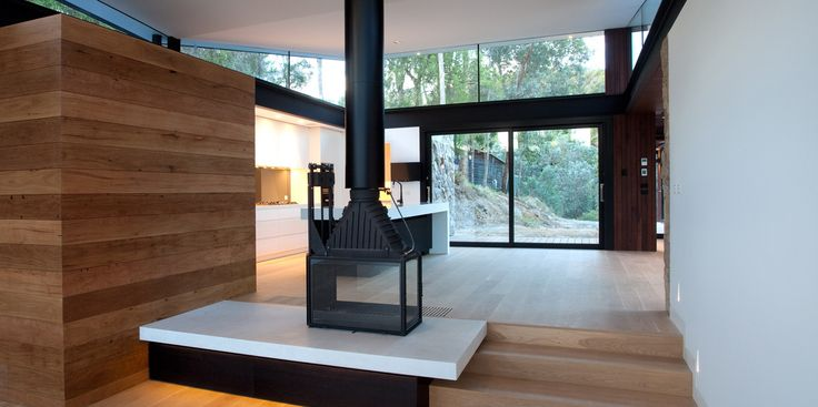 Perfect! Cheminees Philippe 8463V. New home Warrandyte. Architect - Alexandra Buchanan, and builder - Eco Edge Homes - http://ecoedgehomes.com.au/project/north-warrandyte/