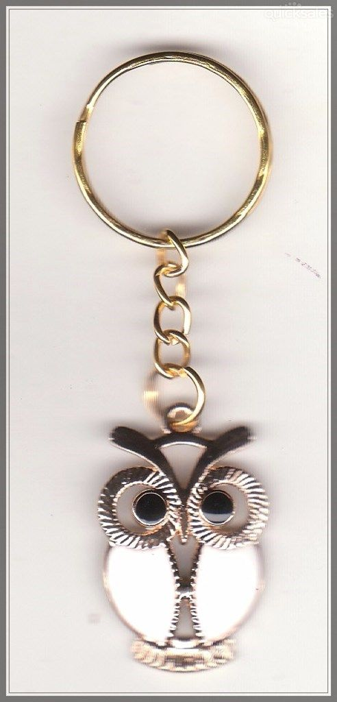 Owl Charm Gold Plated Keyring  by MadAboutIncense - $7.50
