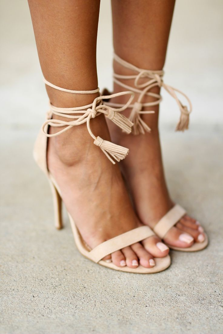 Say hello to your new fave shoes! Our new Nude Strappy Heels with Tassels are a must have piece in every girl's closet. They are the perfect basic heels that go with everything!! Wear them with jeans,