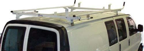 Aluminum Van Ladder Rack - Ford Econoline - Double Lock Down