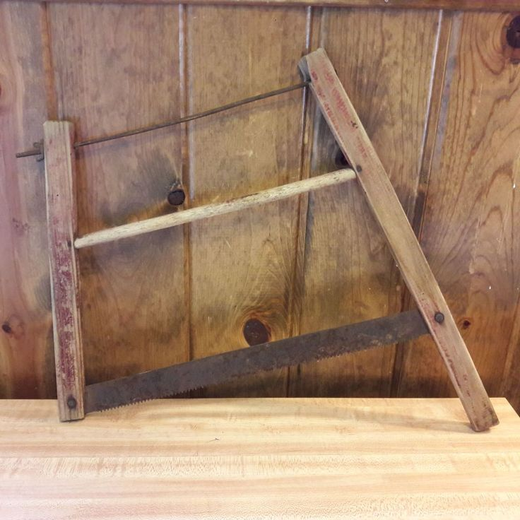 Antique Primitive Salesman Sample Buck Saw From Old-Time Farm Auction - RARE!