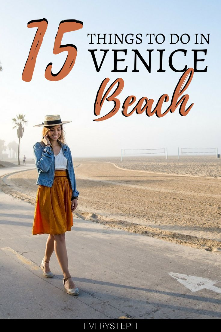 Heading to Los Angeles? You cannot miss Venice Beach! Check out this Venice Beach travel guide to where to go, where to play & where to eat in Venice Beach. You'll find a list of the best 15 things to do in Venice Beach, including the boardwalk, Abbot Kinney blvd, and the Venice Beach sign. | Venice Beach California | what to do in Venice Beach #venicebeach #californiadreaming - via @everysteph