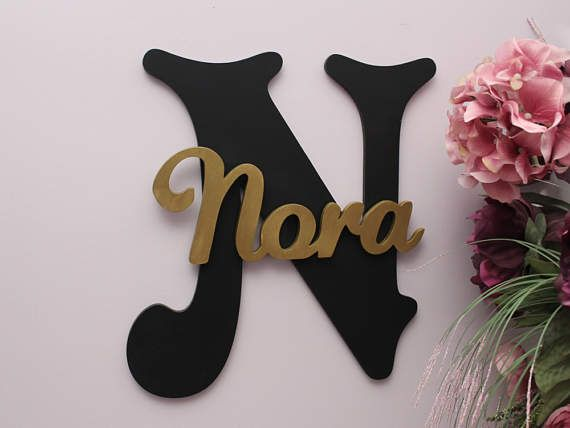 personalized large wooden letters wall letter baby girl