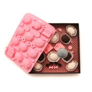 Cute Piggy House Silicone Chocolate Mold Soap Mold