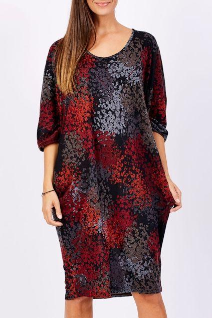 Belle bird Belle Printed Side Drape Dress - Womens Knee Length Dresses - Birdsnest Online Clothing Store