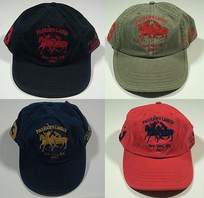 854a7b2f337 NWT RALPH LAUREN Mercer Classic P.R.L Club Baseball Cap Hat Men s One Size