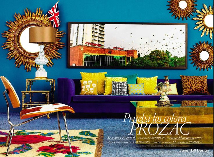 Bohemian style living room from AD Spain
