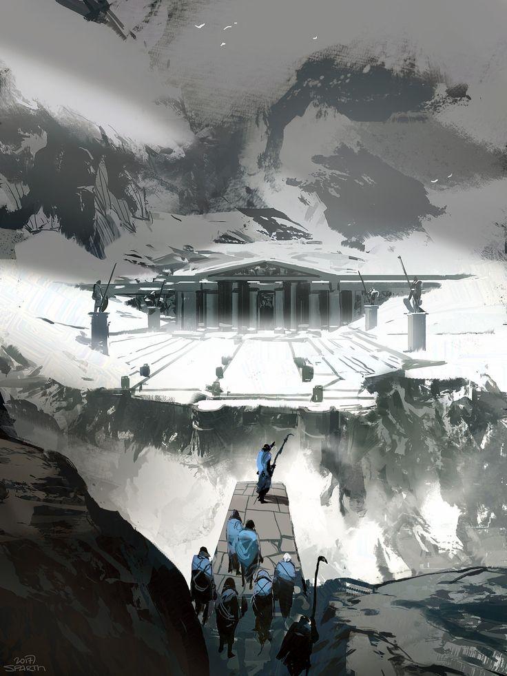 Lost temple, sparth . on ArtStation at https://www.artstation.com/artwork/8EW4E