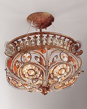 Now, i know where they bought it. --La Crystal Light Fixture at Horchow.