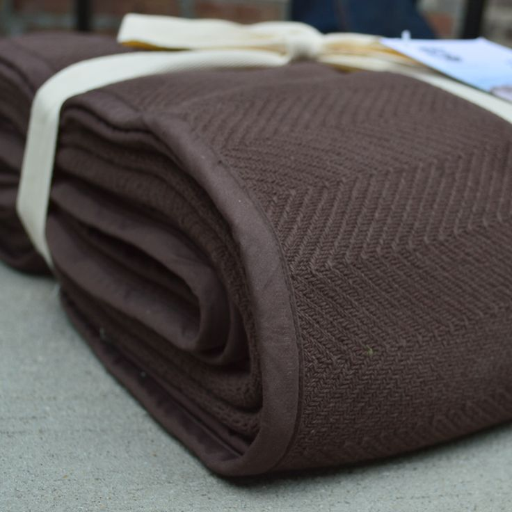Herringbone Cotton Throws And Blankets.