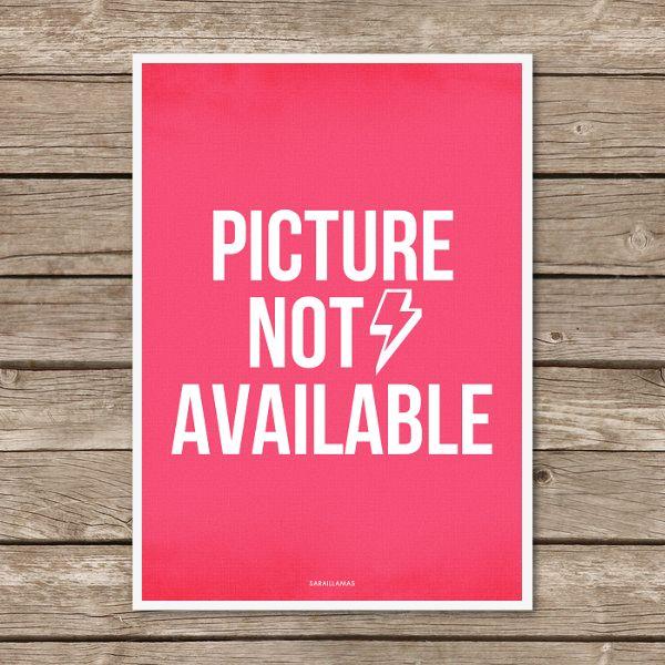 "Lámina ""Picture Not Available"""