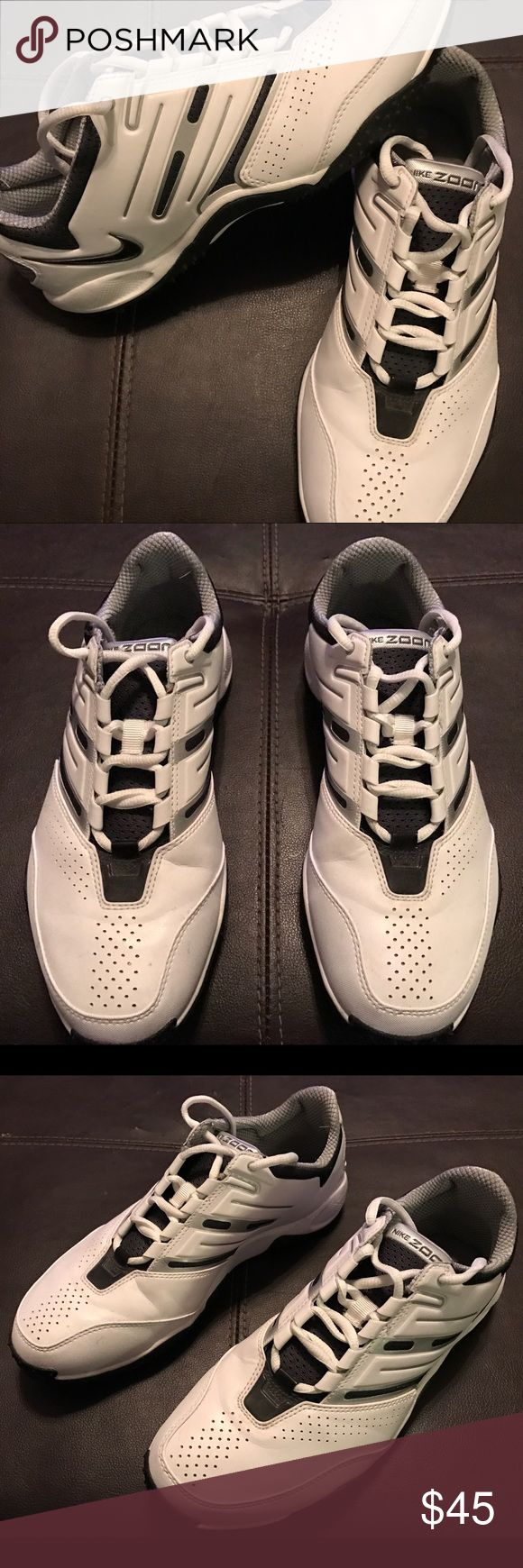 Men's Nike Zoom White Shoes - BRAND NEW Men's Nike Zoom shoes are brand new, never worn. Get new Nikes without breaking the bank NOW! 😉 Nike Shoes Athletic Shoes