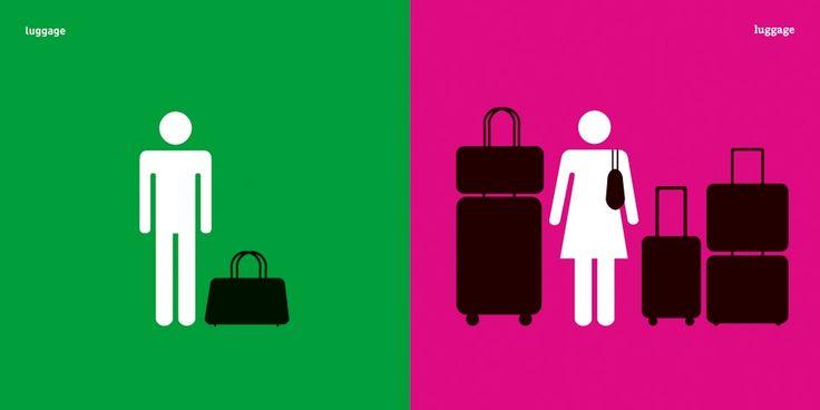 5 Una diseñadora creó imágenes pictográficas con los mandatos sociales asignados a cada sexo EQUIPAJE
