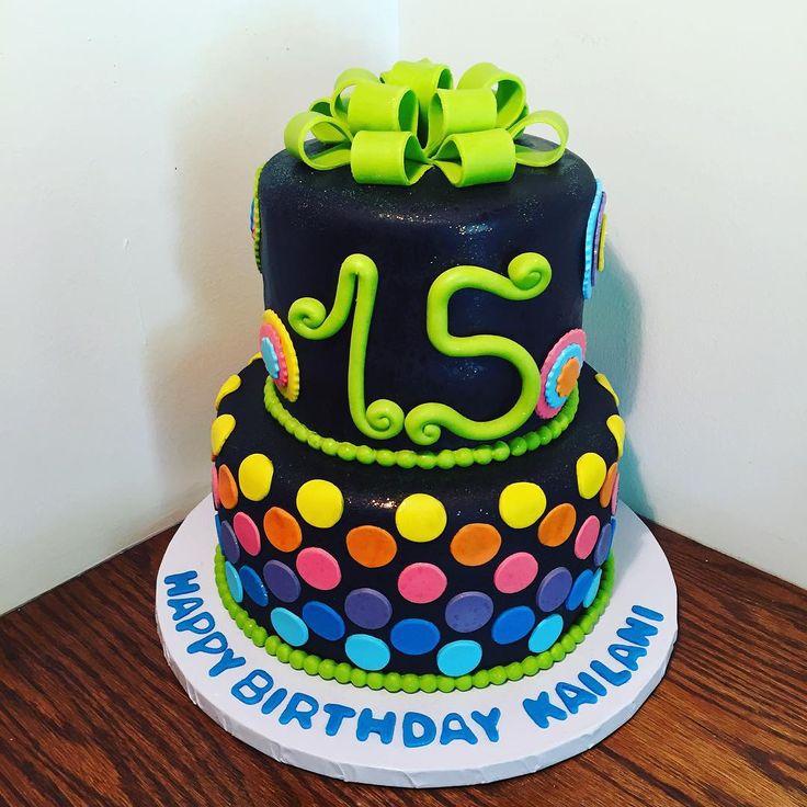 25+ Best Ideas About Neon Birthday Cakes On Pinterest