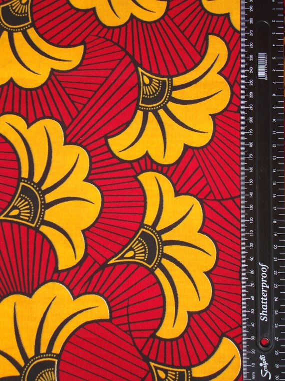 AFRICAN WAX PRINT African Print Fabric Is A Colorful Garment Worn By Women  And Occasionally By
