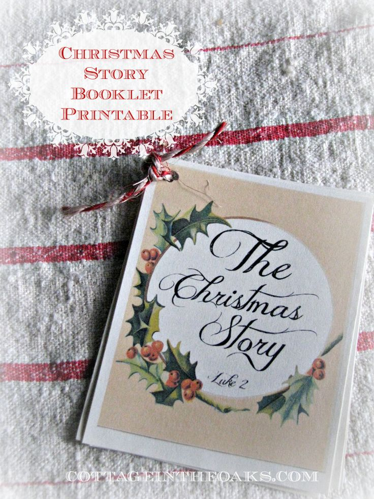 the christmas story ...free printable booklet. Great to put at each person's plate for Christmas dinner.