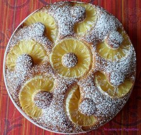 #Torta morbida all'#ananas