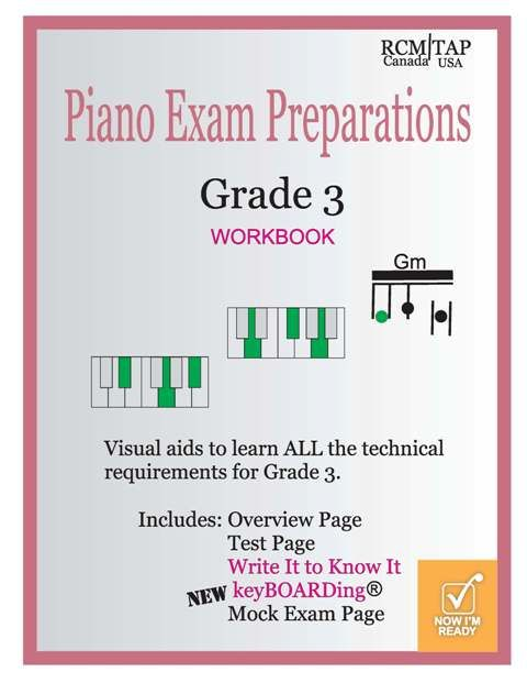 Grade 3 Piano Exam Preparation now with keyBOARDing. Learn to chord like a guitarist http://www.pianoscales.ca