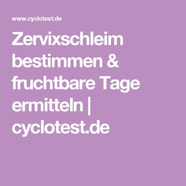 Zervixschleim bestimmen & fruchtbare Tage ermitteln | cyclotest.de
