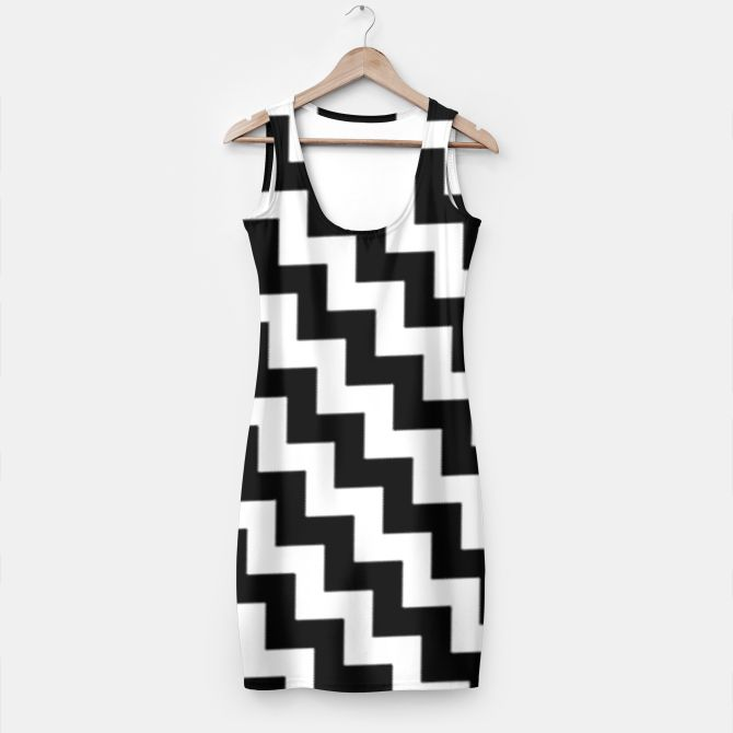Black and White Zig Zag Dress by Elena Indolfi Style #Liveheroes