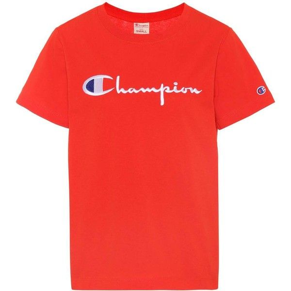 bb60e828b8d3 Champion Cotton T-Shirt ( 66) ❤ liked on Polyvore featuring tops