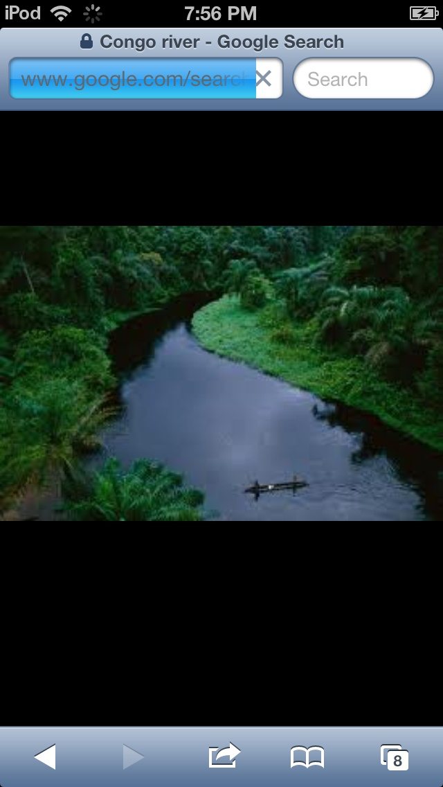 This is the Congo River, located in Africa and its the deepest river in the world
