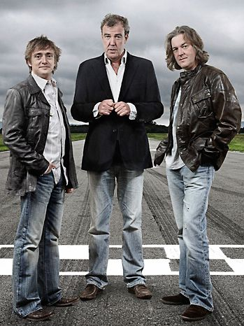 Legends, Legends. Top Gear Hosts, Jeremy Clarckson (middle) James May (right) Richard Hammond (left). Another of my BBC favs! These guys are too funny for words and make cars interesting. Even to women lol!