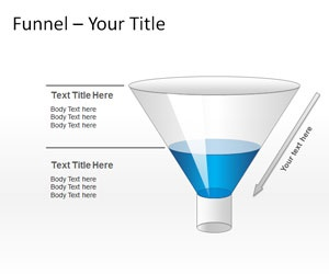 Funnel Diagram PowerPoint template - free to download diagram slide design for information process within an organization as well as presentations on business data and filtering processes.