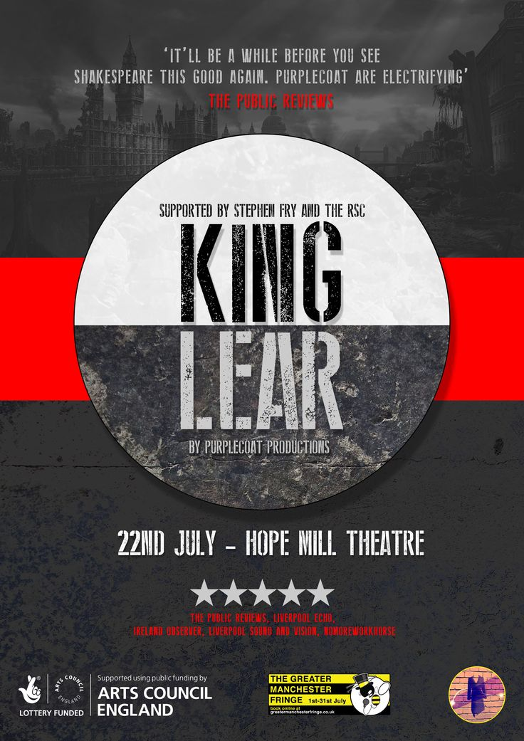 King Lear, Greater Manchester Fringe Poster