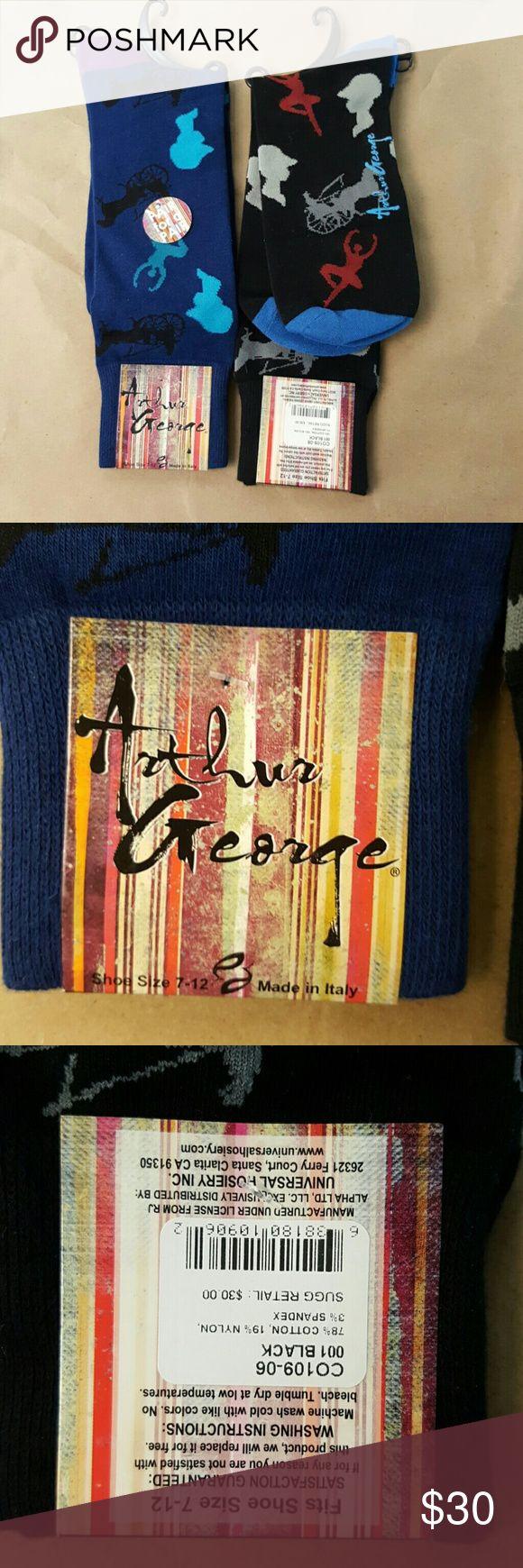 2 Pair Arthur George BalIerina Socks NWT 2 Pair Arthur George BalIerina socks, 1 Navy Blue, 1 Black. Originally $30 pair. Arthur George Underwear & Socks Casual Socks