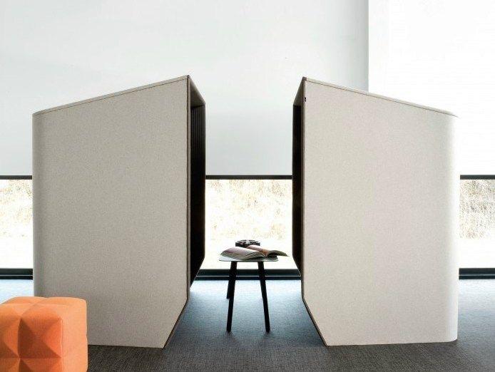 Cabine de bureau acoustique pour réunions BUZZIHUB Collection BuzziHub by Buzzispace. | design Alain Gilles