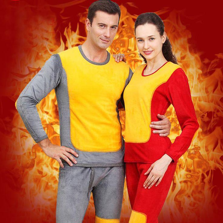 Male& Women winter wool cotton double Layer plus velvet  thicking polartec thermal underwear Men's long johns set leggings