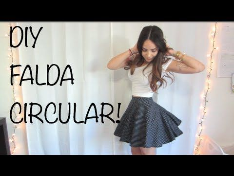 DIY - circular skirt (video is in Spanish, but reasonable simple)