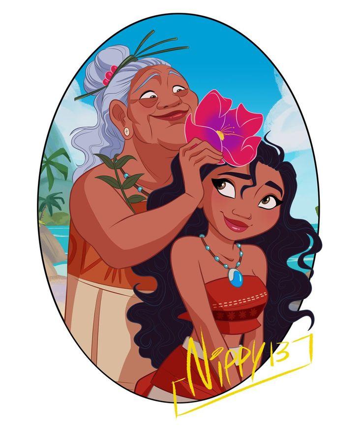 "169 Likes, 2 Comments - nippy13 (@nippychan) on Instagram: ""#moana #grandma #tala #disney #disney #animation #cartoon #instalife #instagood #love #friends…"""