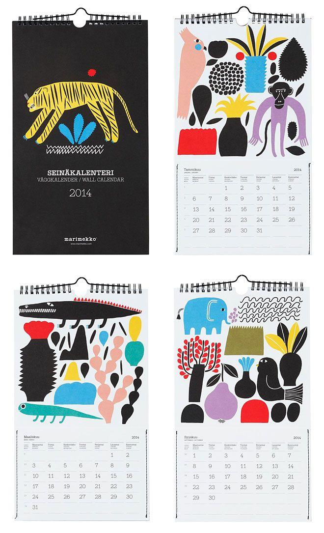 Marimekko 2014 wall calendar