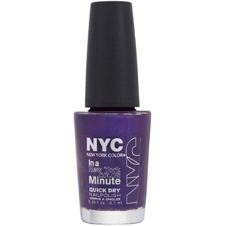 New York Color In a New York Color Minute Quick Dry Nail Polish, Prince Street 0.33 oz, Black