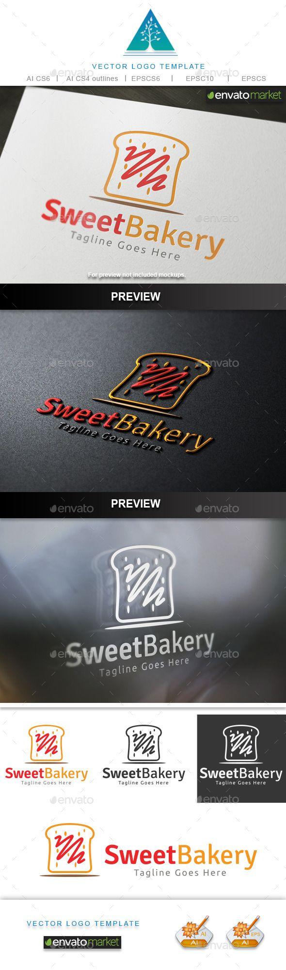 Sweet Bakery Logo - Food Logo Templates