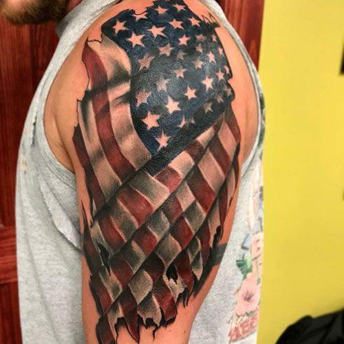 101 Best American Flag Tattoos Patriotic Designs Ideas 2020 Guide With Images Flag Tattoo