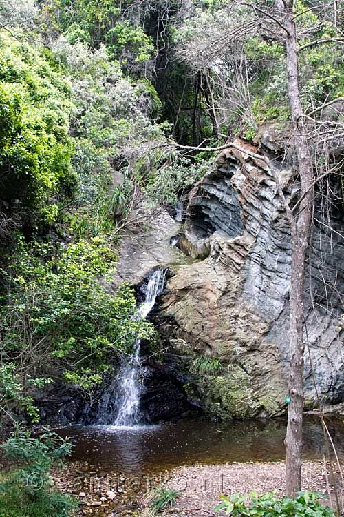 A nice little waterfall at Storms River Mouth Rest Camp in Tsitsikamma National Park  in South Africa