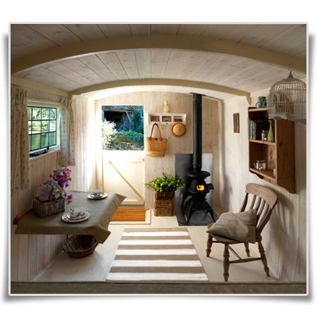 Iron Wheel Shepherds Hut -- this is perfection! All I'd need is a day shade, a table, and an outdoor kitchen.
