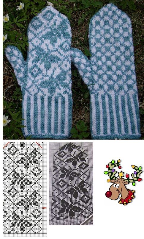 beautiful female mittens with a very touching picture - butterflies, reminiscent of summer