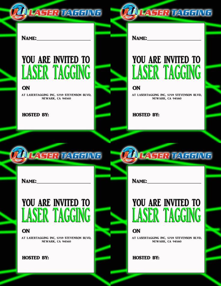 einladung für lasertag kindergeburtstag laser tag