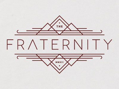 fraternity simple logo design Simple Line Art Used in Logo Design | 25 Beautiful Examples
