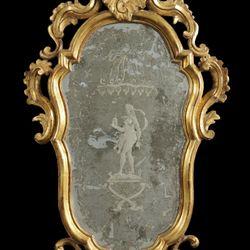Miroir gravé et argenté Vénitien du XVIIIème – Objets – Barnebys.fr