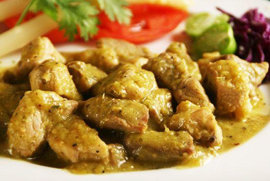 Carne de puerco preparada con salsa verde | Recetas Mexicanas