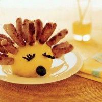 Sausage Hedgehog Party Snack