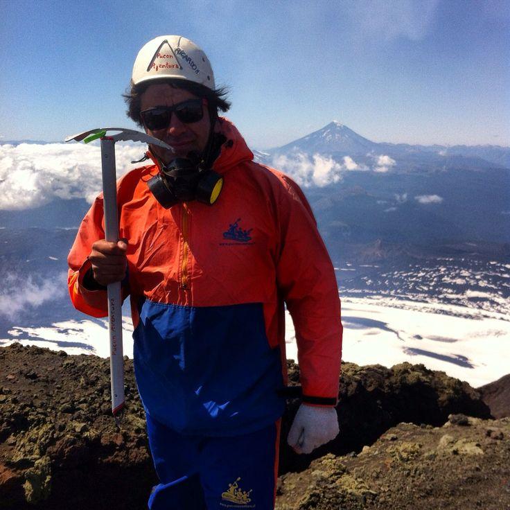 En la Cumbre del Volcán Villarica - Chile - 16 Febrero 2016
