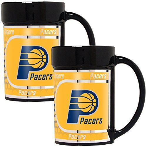 NBA Indiana Pacers Coffee Mug Set with Metallic Graphics 2Piece 15Ounce Black * Find out more about the great product at the image link.