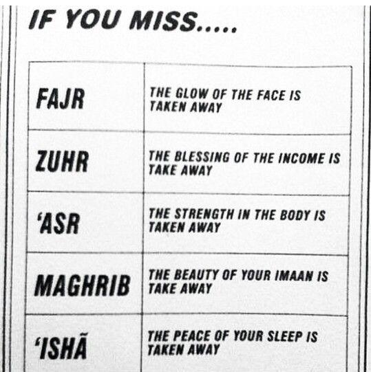Don't miss prayers